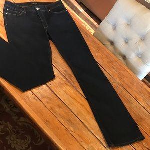 WHBM Size 12R skinny flare jean
